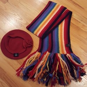 Marc Jacobs Wool Scarf & Beret Hat